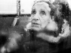 Old Woman On Bus. (BadAlbert) Tags: street photography edinburgh scotland candid portriat people old woman bus through window