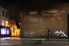 Oust, 2Rise, Rope... (Alex Ellison) Tags: rope oust 2rise gw ghostwriters throwup throwie eastlondon urban graffiti graff boobs night
