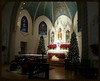 Oh Holy Night (Sun~Lover) Tags: christmas 2016 stjohnthebaptist winfield il church holy night magic poinsettias altar