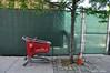 Journey's End (Trish Mayo) Tags: target shoppingcart broken abandoned fence highbridge bronx streetscene