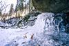 Ice under a Stone (CHCaptures) Tags: rettenbachklamm graz ice stone sun sunstar sony ilce7m2 voigtländer heliar 15mm super wide angle lens