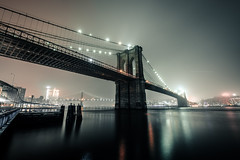 New York (Tim RT) Tags: tim rt usa new york city two bridges manhattan bridge brooklyn east river night america travel orange fog low key landscape scape brücke flickr photography life beautiful fuji fujifilm xt xt2 xf1024mm