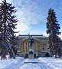 Central Memorial Library (John Andersen (JPAndersen images)) Tags: 2017 calgary city cold january library skyline snow statue towers winter