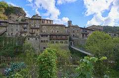Rupit (neoBIT) Tags: ancient arch architecture bridge building exterior geologicalformation gothic heritage historic landmark lavastone medieval old outdoor picturesque romanesque scenic stone stonework suspensionbridge river tower village wife rupit rupitipruit osona cataluna spain