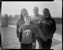 The Brown Family (Blurmageddon) Tags: film analogphotography 4x5 largeformat speedgraphic ektar127mm47 adoxaph09 blackandwhite trix 320txp family