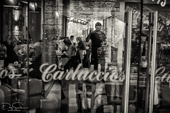 carluccios (Daz Smith) Tags: dazsmith fujixt10 fuji xt10 andwhite bath city streetphotography people candid canon portrait citylife thecity urban streets uk monochrome blancoynegro blackandwhite mono window reflection carulccios restaurant wow