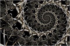 Julia's Braid (Ross Hilbert) Tags: fractalsciencekit fractalgenerator fractalsoftware fractalapplication fractalart algorithmicart generativeart computerart mathart digitalart abstractart fractal chaos art mandelbrotset juliaset mandelbrot julia orbittrap metal sculpture spiral braid
