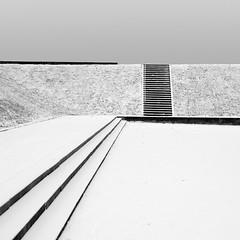 Wintery Park (panfot_O (Bernd Walz)) Tags: park landscape parklandscape snow snowscape winter landscapearchitecture blackandwhite bw bnw nw monochrome fineart square emptyness minimal minimalism silence contemplation simplicity