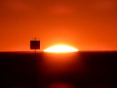 Sun Landing (mikecogh) Tags: glenelg sunset silhouette sun landing glow horizon marker