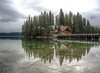 Emerald Lake, British Columbia (leomacdonald) Tags: canada rockies emeraldlake britishcolumbia lodge reflection trees mist