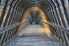 The mysterious footbridge (erichudson78) Tags: france iledefrance ladéfense longexposure poselongue canoneos6d canonef24105mmf4lisusm pont passerelle bridge footbridge symétrie perspective