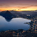 #033 Tramonto sopra Lugano (Enrico Boggia | Photography) Tags: lugano luganese enricoboggia tramonto sunset montebrè montesansalvatore sansalvatore ceresio lagodilugano ticino gennaio 2015 paradiso
