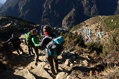 On the way to the Everest View Hotel (3.800m), Nepal (dscheronimo) Tags: namchebazar nepal himalaya hft nikon d800 everestviewhotel trekking trek