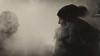 Strangers in the mist (Solden - Rock & Orange Bar) (PaulHoo) Tags: lumix austria solden 2017 winter bar fog mist silhouette talk tension couple smile love bw blackandwhite monochrome nik lightroom smoke girl woman