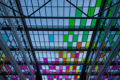 Two fishes (B.enn) Tags: brussel brussels bruxelles glass colours steel architectuur architecture canon eos70d