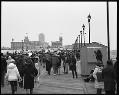Full Boardwalk (thereisnocat) Tags: pentax pentax67 165mm protest womensmarch womensmarchap asburypark monmouthcounty newjersey nj fp4