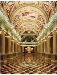 Venetian Hotel Vegas (deardorff810) Tags: largeformat film wetprint 4x5 lasvegas venetian grandhallway rodenstock 90mm casino