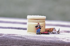 Busking (amanda_shirlow) Tags: macro miniature mini micro miniatureworld microworlds microscopic tinypeople tiny tinyworld littlepeople lilliput small scale hoscale humour busking ho preiser photography bachmann railwayfigure