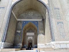 Bibi-Khanym Mosque Main Entrance, Samarkand, June 2015 (leonyaakov) Tags: summer history museum ceramic minaret muslim religion ceremony mosque unesco promenade uzbekistan samarkand citycenter sunnyday citytour ouzbekistan greatphotographers    nikonflickraward
