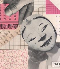 RKO Presents (kurberry) Tags: pink collage mask cutpaste vintageephemera