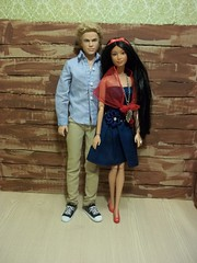 Jesse & Kyla!! (~EverFashionista216~) Tags: world red black hair coast model doll university dolls texas jean northwest native head 04 no label goddess ken barbie collection american blonde 4thofjuly raven atm basics mattel 002 collector fashionistas