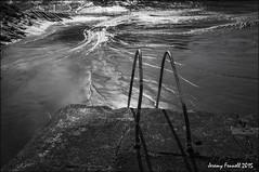 The Swimming pool at the end of the world? (zolaczakl) Tags: bristol blackandwhitebristol mono monochrome blackandwhite bristolinmonochrome cumberlandbasin harbourside mudflats uk england southwest june 2015 photographybyjeremyfennell nikond7100 bw jeremyfennellphotography