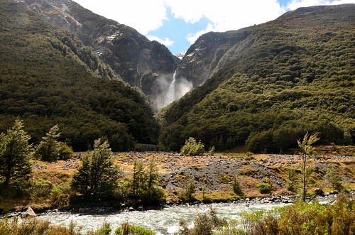 Devils Punchbowl Falls, Arthur's Pass National Park, New Zealand.