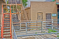 Room For Rent (miketodack) Tags: building brick industry stairs pen colorado commerce forsale farmers gates auction live beef butcher rails shack activity livestock caretaker groundskeeper ranchers denverstockyards