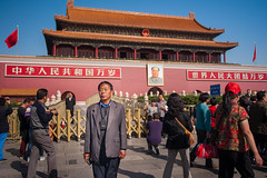 China: Standing Still #3 (laskaproject) Tags: china travel red man architecture asia crowd beijing royal palace tourist communism mao forbiddencity royalty monarchy emperor