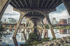 Under the Bridge (Joey Wharton) Tags: city bridge river outdoors virginia richmond rva