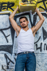 Photo Shoot - Jimmy (Shawn Collins Photography) Tags: shirtless urban hairy irish male guy dedication train canon beard photography graffiti photo model track pittsburgh arms modeling outdoor chest traintracks stomach stare fitness abs photosession malemodel scruff physique fitnessmodel outdoorsession