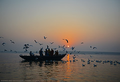THE DAY BREAKS & ACTION BEGINS AT VARANASI (GOPAN G. NAIR [ GOPS Creativ ]) Tags: india tourism river photography boat ride varanasi kashi ganga ganges benaras ghat gops gopan gopsorg gopangnair gopsphotography