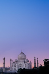 Taj Mahal Sunset (Greg - AdventuresofaGoodMan.com) Tags: pink blue trees sunset sky india building green love tourism monument skyline architecture temple cityscape purple indian famous taj mahal tajmahal agra landmark icon mausoleum iconic famousplaces