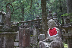 Jizo in red, Oku-no-in Koya-San