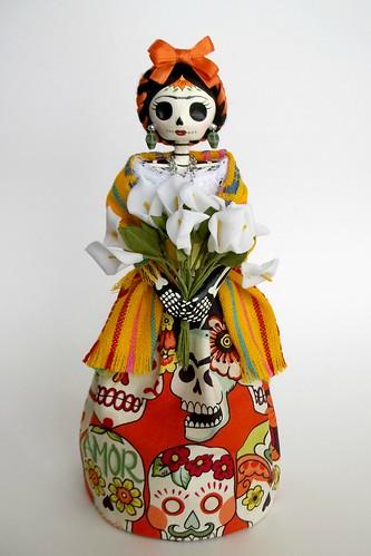 Frida Kahlo Catrina de papel mache