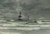 NYE Lighthouse (Malena †) Tags: lighthouse stjosephlighthouse michigan shoreline lakemichigan waves maritime storm seascape waterscape cloudscape winter nye lastphotooftheyear 2016 tidalwave