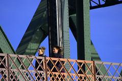 Bridge Walkers (swong95765) Tags: walkers women females ladies walking bridge walkway windy cold