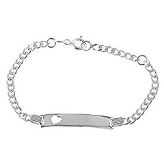 Sterling Silver Heart Cut Out Engravable Id Identification Bracelet for Child (goodies2get2) Tags: 25to50 amazoncom bestsellers sterlingsilver