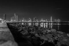 Night Cityscape (Ciudad de Panamá, Panamá. Gustavo Thomas © 2016) (Gustavo Thomas) Tags: night cityscape ciudad city noche sea seashore centralamerica centroamérica panamá blackandwhite blancoynegro monochrome bnw blancheetnoir monocromático viaje travel