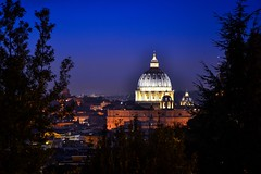 night view to Vatican St Peter's (tewhiufoto) Tags: stpeterscathedral vatican flickr tewhiu tewhiufoto italy europe unescoworldculturalandnaturalheritage unesco janiculum garibaldi rome cathedraldom beautifulbuilding nikondigital nightlights night bluehour explore christmas christmaseve building buildings iknowwherewhereyouare planetearthbackintheday