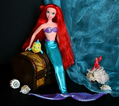 Sea Pearl Ariel Doll (Emily-Noiret) Tags: sea pearl ariel doll vintage mattel dolls little mermaid disney