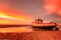 Meols Beach Sunset (6 of 14) (andyyoung37) Tags: boat meolsbeech merseyestuary beach greatsky sunset thewirral