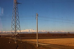 From the train window (B Plessi) Tags: treno train tgv milano lione totino landscape viaggio journey piemonte alpes alpi neve neige snow pianura plaine del po