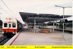 K53 - East Hills Station (alcogoodwin) Tags: easthills emu k53 spark transportation passenger passengers commuter sydney railway electricmultipleunit australia train trains candy kset cset sector2 staterail cityrail transport