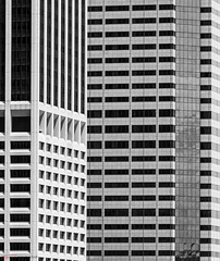 Squares and Rectangles (SF-Photo) Tags: architecture usa skyscraper manhattan northamerica newyorkcity blackwhite newyork outdoor america event amerika architektur bw bauten ereignis freiland highrise hochhaus ny nordamerika schwarzweiss us unitedstatesofamerica vereinigtestaatenvonamerika wolkenkratzer