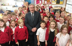 With P5 pupils at Windygoul Primary School