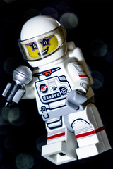 MM: Rocket Man (Chris O'Brien Photography) Tags: singing lego rocketman inspiredbyasong astronaut sing macromondays eltonjohn space minifigure smile smiling glasses shades sunglasses funky microphone spacesuit