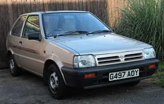 G497 AOY (Nivek.Old.Gold) Tags: 1990 nissan micra ls 3door 998cc