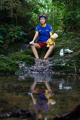 Taichi (bdrc) Tags: asdgraphy yagami taichi digimon plushie monster bukit gasing forest jungle green strobe godox sony a6000 sigma 30mm prime kaori lala cosplay girl portrait crossplay boy character plants trees river stream