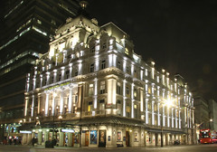 Her Majesty's Theatre (Raphooey) Tags: gb uk south east southeast home counties london capital city westminster sky light lights reflection reflections canon eos 70d theatre her majestys majesty haymarket theatreland phantom opera
